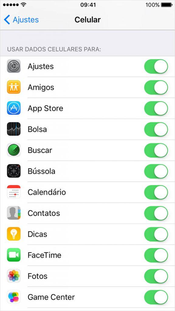 Uso de Toggle Switch para ativação imediata de notificações by Apple.